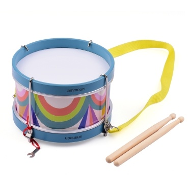 ammoon Portable Colorful Snare Drum Percussion Instrument