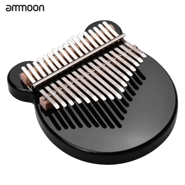 ammoon 17-Key Thumb Piano Black Acrylic Kalimba Mbira Musical Instrument