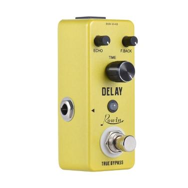 Mini Pure Analog Delay-Gitarren-Effekt-Pedal True Bypass Gehäuse aus Aluminiumlegierung