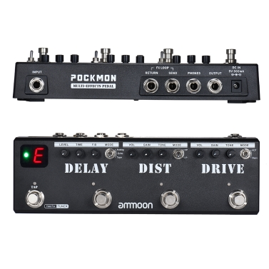 ammoon POCKMON Multi-Effects Pedal Strip Guitar Effect Pedal