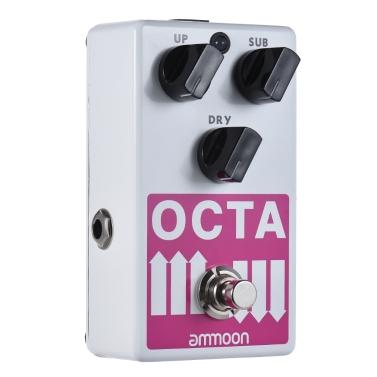 Ammoon OCTA E-Gitarre Präzise Polyphonic Oktave Generator Effektpedal