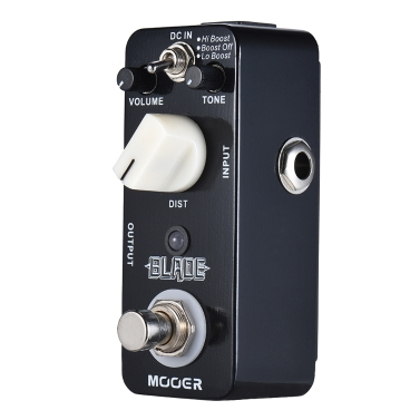 MOOER BLADE Metal Distortion Gitarre Effektpedal 3 Modi True Bypass Full Metal Shell