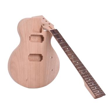 Ammoon Kinder LP Stil unvollendete DIY E-Gitarre Kit
