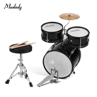 Muslady Kids Kinder Junior Anfänger 3-teiliges Schlagzeug Set Drums Kit