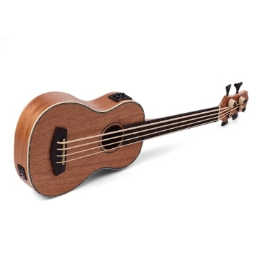 30 Inch Electric Bass Ukulele Ukelele Uke Sapele Plywood Body Padauk Fretboard Rubber Strings Built-in Tuner EQ with 3 Meters Audio Cable