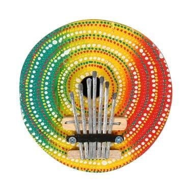 Piano de dedo colorido de 7 teclas com Kalimba Mbira