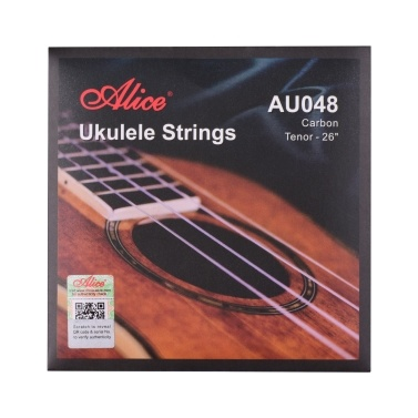 Alice AU048 Ukulele Strings Carbon Tenor String Set for 26 Inch Ukuleles