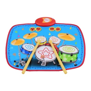 55 * 43cm Electronic Musical Mat Touch Sensitive Drum Kit Carpets Music Play Mat Musical Educational Toys for Kids Children