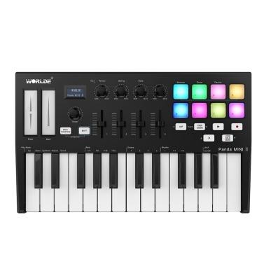 WORLDE Panda MINI II Portable 25-Key USB MIDI Keyboard Controller