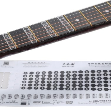 Guitar Notation Melody Fingerboard Fretboard Grade Fret Scale Sticker Note Label Decal NeckNote 6 Strings Acoustic Classic Electric Guitar Beginner Learning Practice