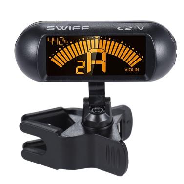 Clip-elektronischer chromatischer Violin Tuner LCD-Display um 360 ° drehbar