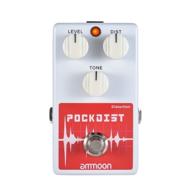 ammoon POCKDIST Classic Distortion Gitarreneffektpedal Full Metal Shell True Bypass