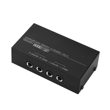 Ultra-compact Hum Destroyer 2-channel Hum Eliminator Noise Filter 1/4 Inch TRS Inputs Outputs