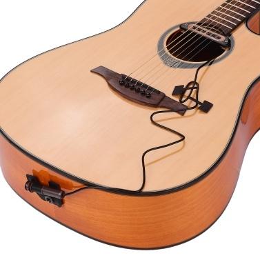 VERTECHnk VS-9 Passive Guitar Soundhole Pickup Humbucker Pick-up Transducer 6.35mm Endpin Jack Volume Control Acoustic Folk Guitar