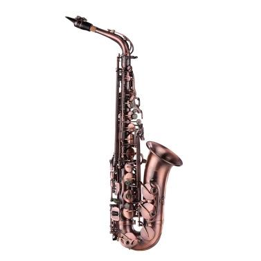 Muslady High Grade Rotbronze Bent Eb Alto Saxophon