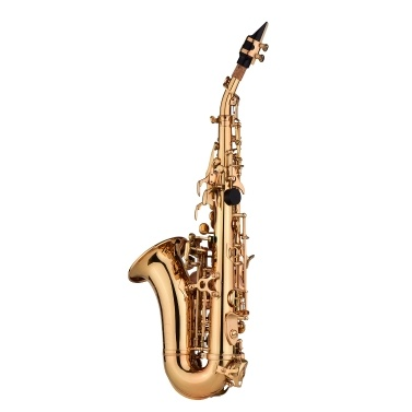 Muslady Mini Bb Soprano Saxophone Sax Brass Material Gold Laquer Surface Woodwind Instrument
