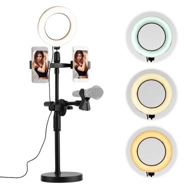 Streaming Mikrofonständer Tisch Boden Telefonständer Höhe einstellbar