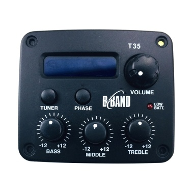 New B Band T35 3-Band EQ With Tuner Acoustic Guitar Pickup Systems