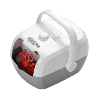 Muslady automático Bubble Blower Bubble Maker Bubble Blowing at One Press Plug-in portátil recarregável