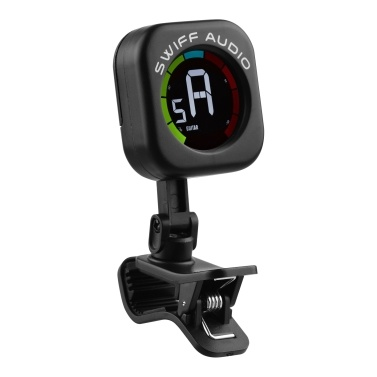 SWIFF A12-CS Mini Clip-On Tuner Colorful Screen 5 Tuning Modes Tuner for Ukulele Guitar Bass Violin