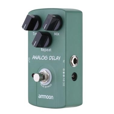 ammoon AP-07 Analog Delay e-Gitarren Effekt Pedal True Bypass