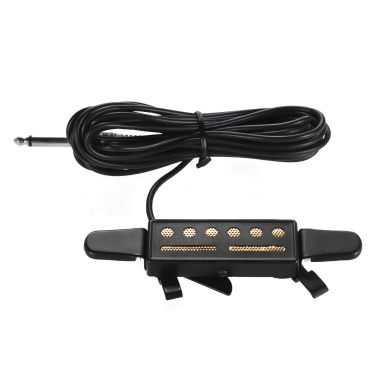 Acoustic Guitar Sound Soundhole Pickup Acoustic / Electric Transducer 1/4in Female Plug 4m Cable