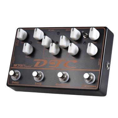 43% OFF MOSKY DTC 4-in-1 Electric Guitar Effects Pedal,limited offer $49.99