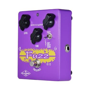 BIYANG FZ-12 Klassische Serie Analog Fuzz Gitarre Effektpedal 3 Modi True Bypass Vollmetallgehäuse