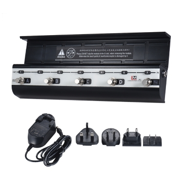 BIYANG LiveMaster Serie LM-7 Mainframe-Einheit Gitarren-Effekte Modulare Board-Plattform Unterstützt 8 voreingestellte Kombinationseffekte für die Installation von 7 Effekt-Modulen mit Netzteil