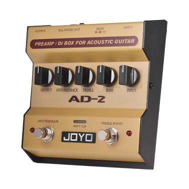 JOYO AD-2 Portable Preamp DI Box Akustikgitarre Effektpedal