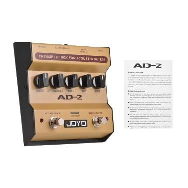 JOYO AD-2 Portable Preamp DI Box Acoustic Guitar Effect Pedal