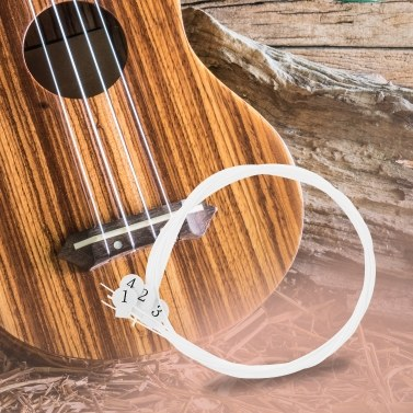 4pcs White Practical Nylon Ukulele Strings Replacement Part