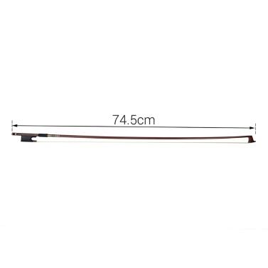 4/4 Violin Fiddle Bow Brazilwood Round Stick Ebony Frog Horsetail Hair Well Balanced