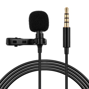 Professional Lavalier Clip-On Microphone 3.5mm Audio Plug Compatible