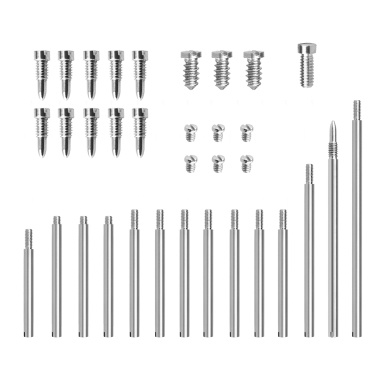 Professional Clarinet Accessories Set 14pcs Threaded Shaft Lever 20pcs Screws Wind Instrument Repair Parts