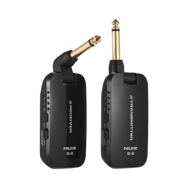NUX B-2 2.4G Guitar Wireless System Transmitter & Receiver 4 Channels Built-in Rechargeable Lithium Battery Electric Guitar Bass