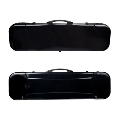 4/4 Full Size Portable Glass Fiber Violin Case Oblong Shape Hardshell Storage Bag Box with Hygrometer Straps