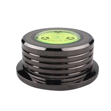 Schallplattengewichtsstabilisator 50 Hz Wasserwaage Geschwindigkeitserkennung Plattenspieler LP-Disc-Stabilisatorklemme für Schallplattenspieler