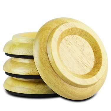 4Pcs Non-Slip Upright Piano Caster Cups Wood Piano Casters Anti-Noise Piano Leg Floor Protectors Piano Accessorie