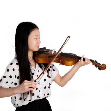 4/4 Full Size Violin Fiddle Basswood Steel String Stringed Musical Instrument Kids Beginners Circle Style Bow
