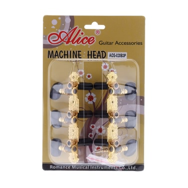 Alice AOS-020B3P 1 Paar Vergoldete 3 Maschine Kopf Klassische Gitarre Saiten Abstimmung Schlüssel Stöpsel