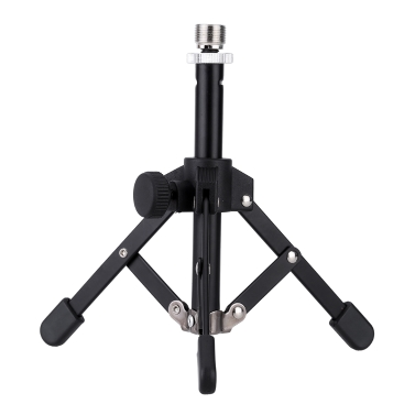 ammoon MS-12 Mini Foldable Desktop Tabletop Tripod Microphone Mic Stand Holder