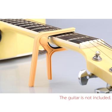 Andoer® EinhandNylon Gitarre Kapodaster Stimmer Schnellwechsel für Akustische Klassische E-Gitarre Ukulele und Bass Farbe nach Zufall Lieferung