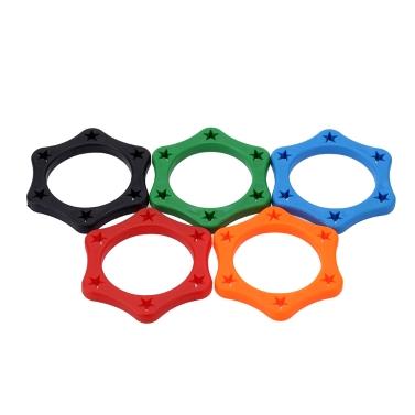 5pcs gomma microfono palmare senza fili anti-rotolamento anello di protezione