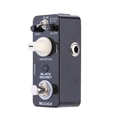 Mooer Black Secret Micro Mini Distortion E-Gitarre Effektpedal True Bypass