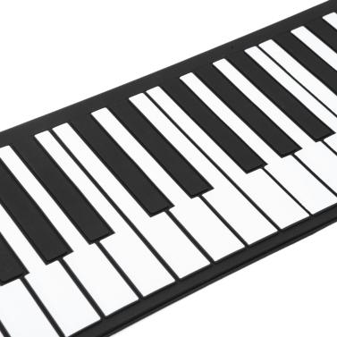 Flexible Roll Up Electronic Soft Keyboard Piano Portable 61 Keys