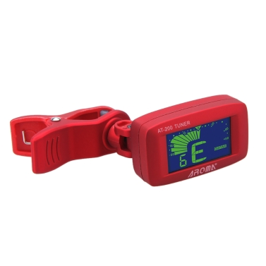 Aroma AT-200 Clip-on Electric Tuner Three Colors Backlit LCD Screen Guitar Chromatic Bass Ukulele Universal Portable