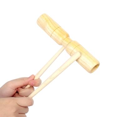 Kleine hölzerne Krähe Signalgeber zwei Tone Exquisite Kid Kinder musikalische Spielzeug-Percussion-Instrument