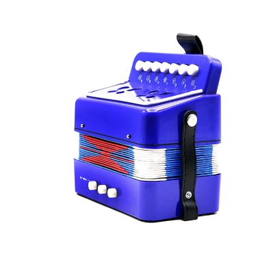 Kids Children 7-Key 2 Bass Mini Small Accordion Educational Musical Instrument Rhythm Band Toy