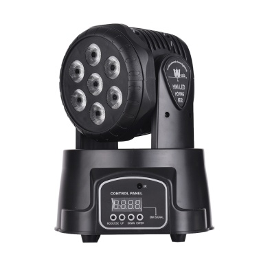 Stage Light Mini Moving Head Light 7 LEDs 4 in 1 RGBW DMX512 9/14 Channels with Remote Control